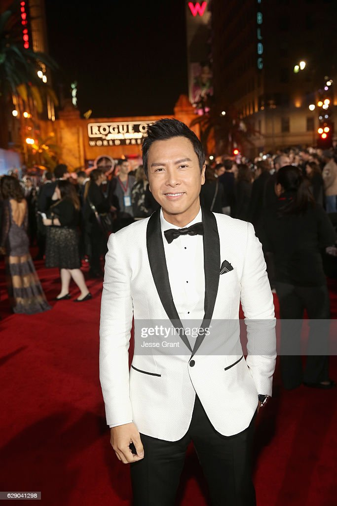 Actor Donnie Yen attends The World Premiere of Lucasfilm's highly anticipated, first-ever, standalone Star Wars adventure, 'Rogue One: A Star Wars Story' at the Pantages Theatre on December 10, 2016 in Hollywood, California.