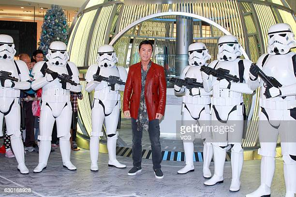 Actor Donnie Yen Jidan attends the propaganda of film Rogue One A Star Wars Story on December 17 2016 in Hong Kong China