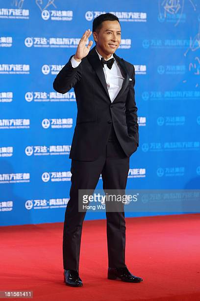 Actor Donnie Yen Jidan attends the red carpet show for the Qingdao Oriental Movie Metropolis on September 22 2013 in Qingdao China