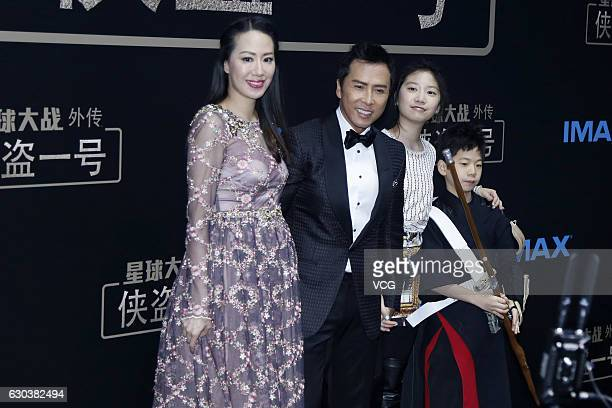 James wang stock photos and pictures getty images actor donnie yens wife model cecilia wang actor donnie yen donnie yens daughter jasmine yen and stopboris Images