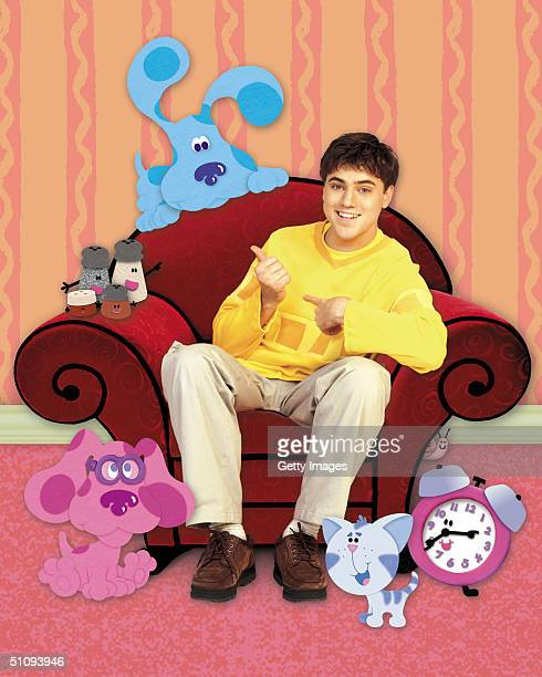 Actor Donovan Patton Appears With Blue His Animated CoStar On The Set Of Nickelodeon's 'Blue's Clues' In This ComputerGenerated Composite Publicity...