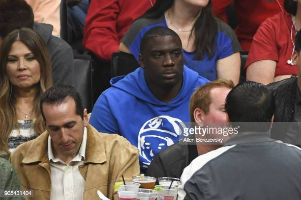 Actor Donovan W Carter attends a basketball game between the Los Angeles Clippers and the Houston Rockets at Staples Center on January 15 2018 in Los...