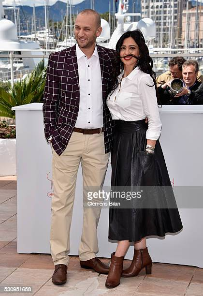 Actor Doraid Liddawi and actress Maisa Abd Elhadi attend the Personal Affairs photocall during the 69th annual Cannes Film Festival at the Palais des...