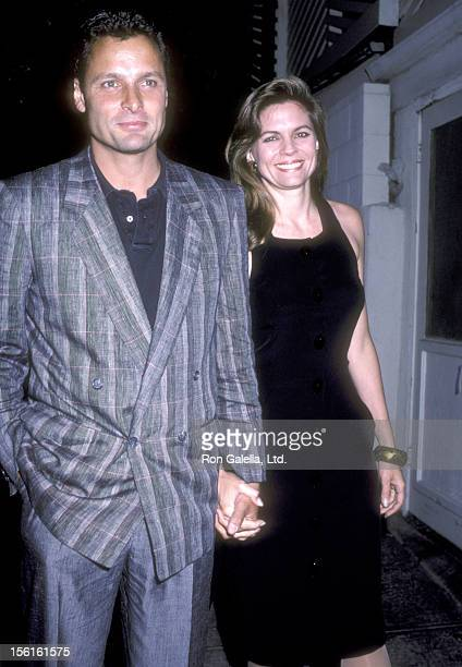Actor Doug Barr and wife Clare Kirkconnell attend the 20th Century Fox Television Party on September 7, 1986 at Spago in West Hollywood, California.