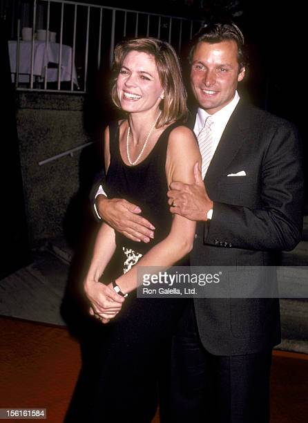 Actor Doug Barr and wife Clare Kirkconnell attend the ABC Television Affiliates Party on May 9, 1983 at Century Plaza Hotel in Los Angeles,...