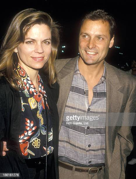 Actor Doug Barr and wife Clare Kirkconnell attend the Gary Hart Presidential Campaign Fundraiser on April 15, 1987 at Hollywood Palladium in...