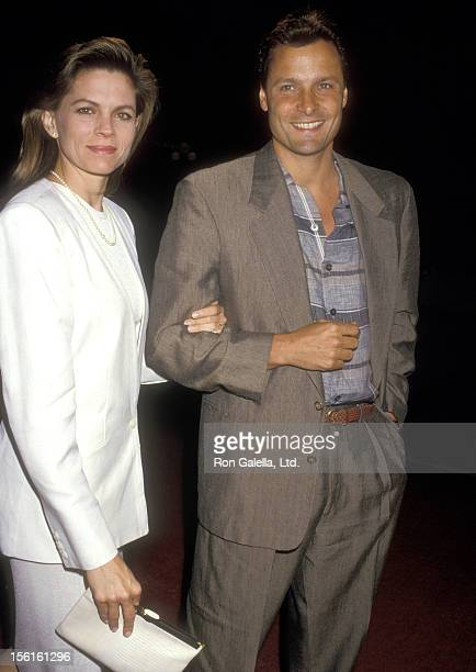 Actor Doug Barr and wife Clare Kirkconnell attend the 'Ishtar' Century City Premiere on May 13, 1987 at Plitt's Century Plaza Theatres in Century...