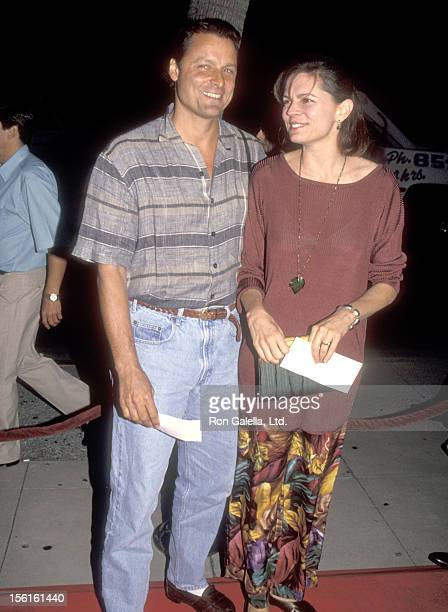 Actor Doug Barr and wife Clare Kirkconnell attend the 'Manhattan Murder Mystery' Beverly Hills Premiere on August 16, 1993 at Samuel Goldwyn Theatre...