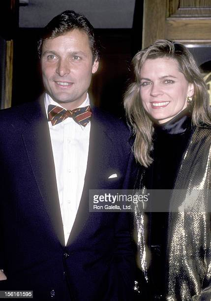 Actor Doug Barr and wife Clare Kirkconnell attend the Party for Glen A. Larson on October 23, 1985 at Chasen's Restaurant in Beverly Hills,...