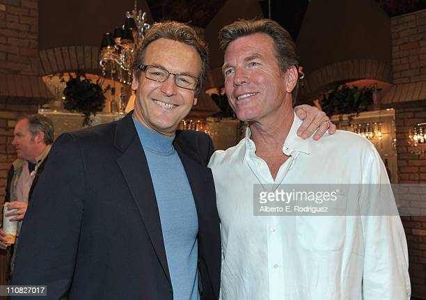 Actor Doug Davidson and actor Peter Bergman attend CBS' 'The Young and the Restless' 38th Anniversary cake cutting on March 24 2011 in Los Angeles...