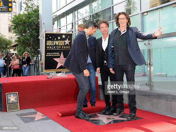 Actor Doug Davidson musician Richard Marx actor/musician Rick Springfield and actor Jason Thompson attend the ceremony honoring Rick Springfield with...
