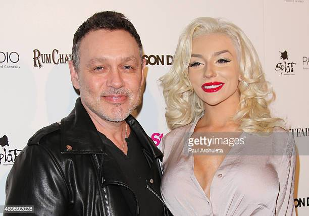 Actor Doug Hutchison and TV Personality Courtney Stodden attend the listening party for Jason Derulo's Everything Is 4 at The Argyle on April 15 2015...