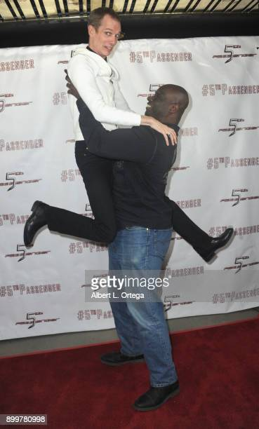 Actor Doug Jones and actor Isaac Singleton arrive for the cast and crew screening of 5th Passenger held at TCL Chinese 6 Theatres on December 13 2017...