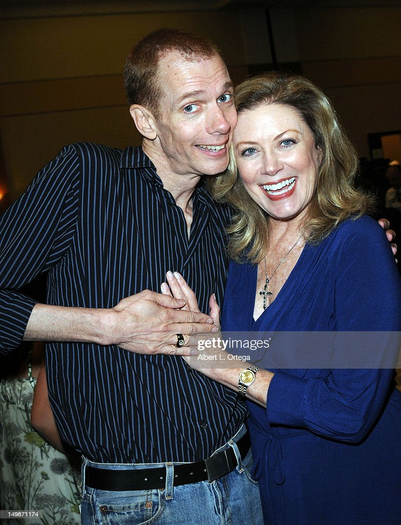 Actor Doug Jones and actress Nancy Stafford participates in The Hollywood Show held at Burbank Airport Marriott Hotel & Convention Center on August 5, 2012 in Burbank, California.