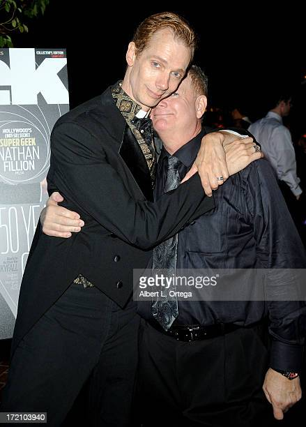 Actor Doug Jones and producer Len McLeod attend the 39th Annual Saturn Awards After Party Sponsored by GEEK Magazine at The Castaway on June 26 2013...