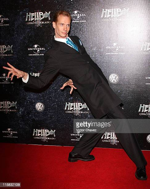 Actor Doug Jones attends the 'Hellboy II The Golden Army' Mexico City Premiere at Cinemex Antara on July 3 2008 in Mexico City Mexico