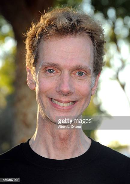 Actor Doug Jones displays a Tshirt with his character Cochise from 'Falling Skies' at the Son Of Monsterpalooza Convention held at Los Angeles...