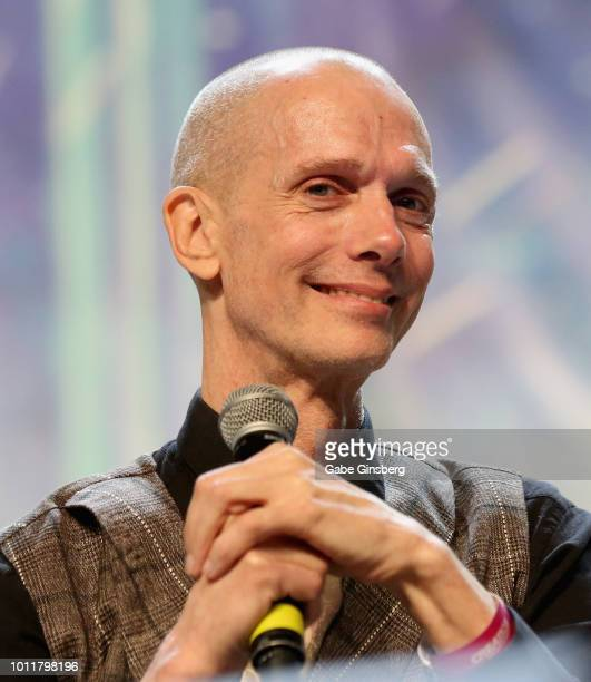 Actor Doug Jones speaks at the Discovery Part 5 panel during the 17th annual official Star Trek convention at the Rio Hotel Casino on August 5 2018...