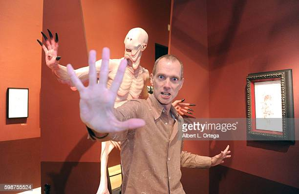 Actor Doug Jones Visits Director Guillermo Del Toro's At Home With Monsters Exhibit held at LACMA on September 2 2016 in Los Angeles California