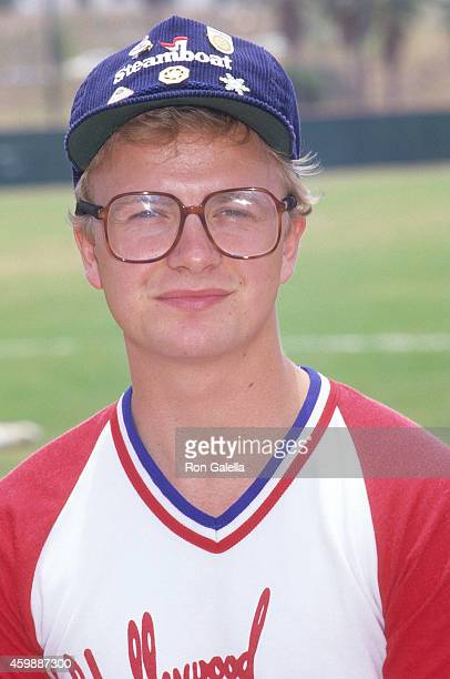 Actor Doug McKeon attends Hollywood AllStars vs 'The Bold the Beautiful' Celebrity Softball Game on June 13 1987 at Pepperdine University in Malibu...