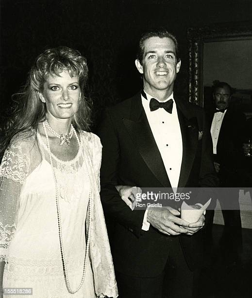 Actor Doug Sheehan and wife Cate Abert attend Old Westbury Gardens Invitational Polo Cup Dinner Gala on July 19 1985 at Old Westbury Gardens in New...