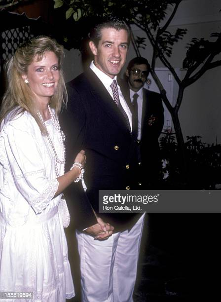 Actor Doug Sheehan and wife Cate Abert attend the CBS Party on June 13 1986 at The Bistro in Beverly Hills California