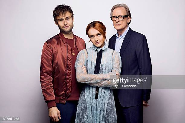 Actor Douglas Booth actress Oliva Cooke and actor Bill Nighy from the film 'The Limehouse Golem' pose for a portrait at the Toronto International...