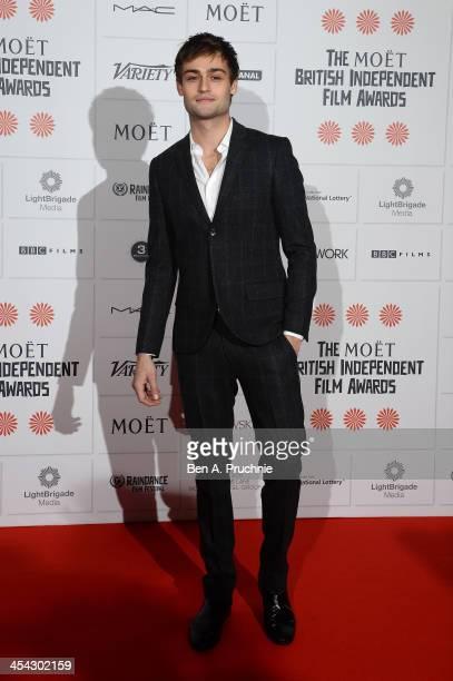 Actor Douglas Booth arrives on the red carpet for the Moet British Independent Film Awards at Old Billingsgate Market on December 8 2013 in London...
