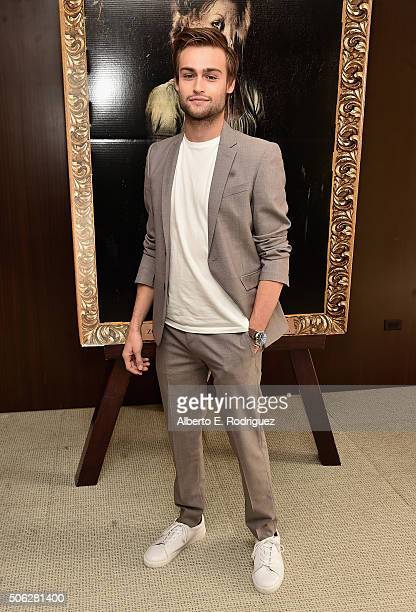 Actor Douglas Booth attends Screen Gem's 'Pride and Prejudice and Zombies' photo call at The London Hotel on January 22 2016 in West Hollywood...