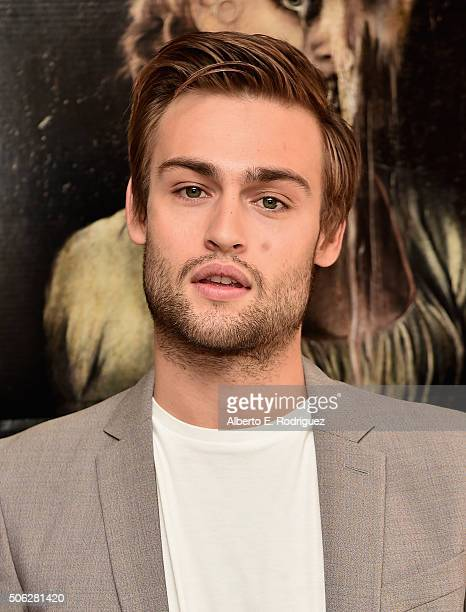 Actor Douglas Booth attends Screen Gem's Pride and Prejudice and Zombies photo call at The London Hotel on January 22 2016 in West Hollywood...