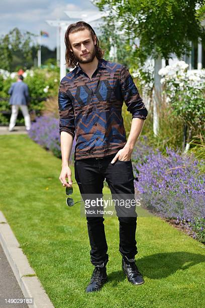Actor Douglas Booth attends the Audi International polo at Guards Polo Club on July 22 2012 in Egham England