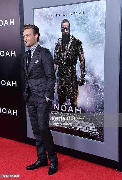Actor Douglas Booth attends the New York premiere of Paramount Pictures' 'Noah' at the Ziegfeld Theatre on March 26 2014 in New York City