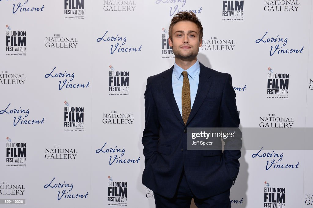 Actor Douglas Booth attends the UK Premiere of 'Loving Vincent' during the 61st BFI London Film Festival on October 9, 2017 in London, England.
