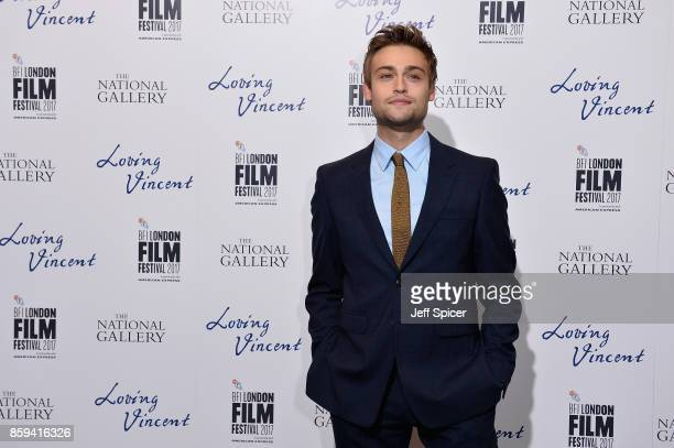 Actor Douglas Booth attends the UK Premiere of 'Loving Vincent' during the 61st BFI London Film Festival on October 9 2017 in London England