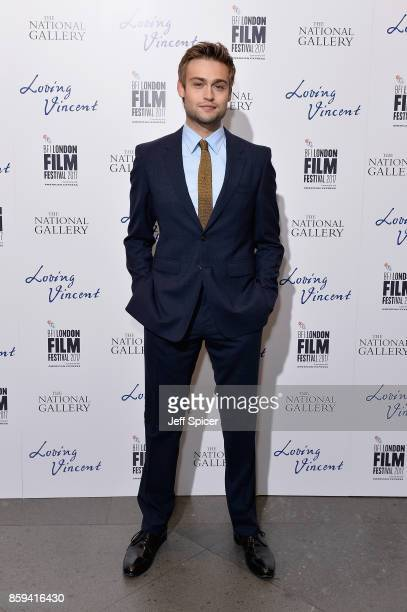 Actor Douglas Booth attends the UK Premiere of Loving Vincent during the 61st BFI London Film Festival on October 9 2017 in London England