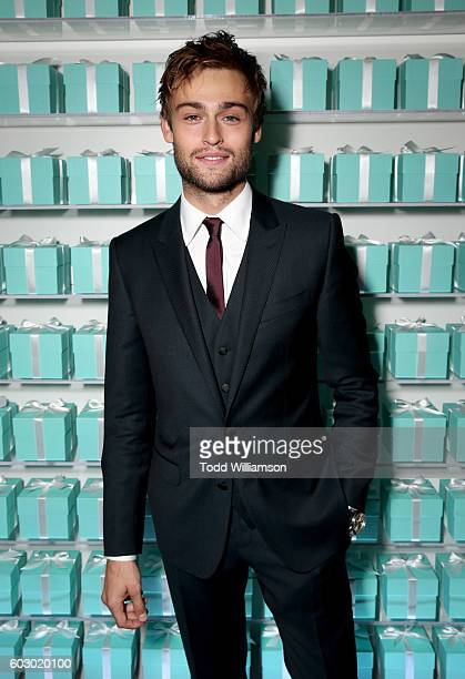 Actor Douglas Booth attends the Vanity Fair and Tiffany Co private dinner toasting Lupita Nyong'o and celebrating Legendary Style at ShangriLa Hotel...