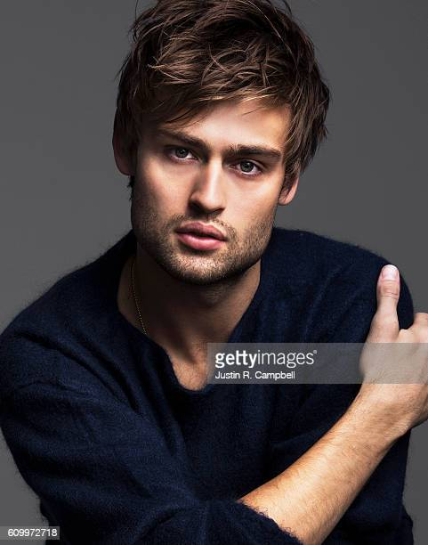 Actor Douglas Booth is photographed for Just Jared on January 25 2016 in Los Angeles California