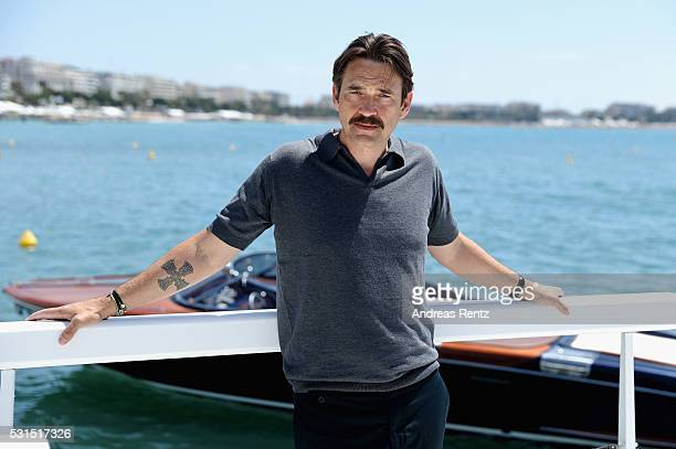 Actor Dougray Scott attends London Town Photocall during The 69th Annual Cannes Film Festival at the Palais des Festivals on May 15 2016 in Cannes...