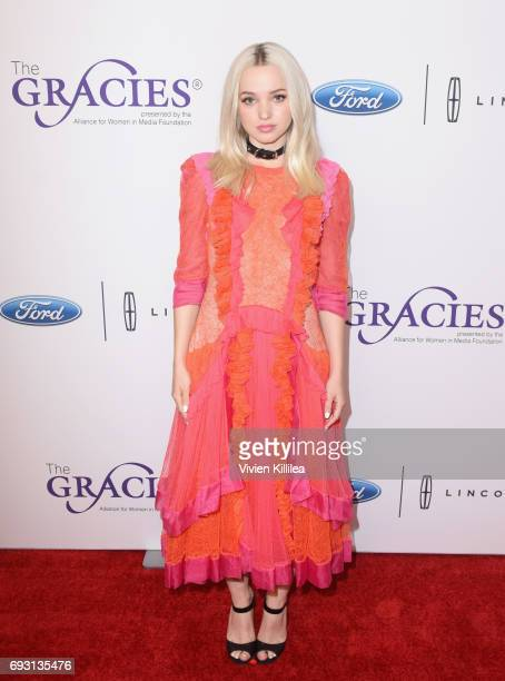 Actor Dove Cameron attends the 42nd Annual Gracie Awards Gala hosted by The Alliance for Women in Media at the Beverly Wilshire Hotel on June 6 2017...