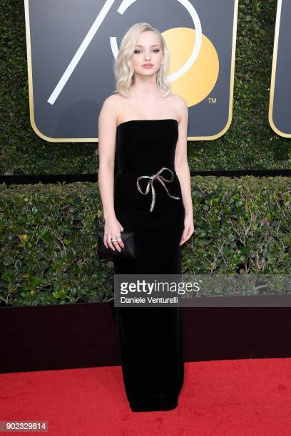 Actor Dove Cameron attends The 75th Annual Golden Globe Awards at The Beverly Hilton Hotel on January 7 2018 in Beverly Hills California