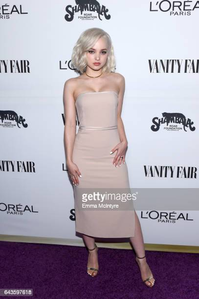 Actor Dove Cameron attends Vanity Fair and L'Oreal Paris Toast to Young Hollywood hosted by Dakota Johnson and Krista Smith at Delilah on February 21...
