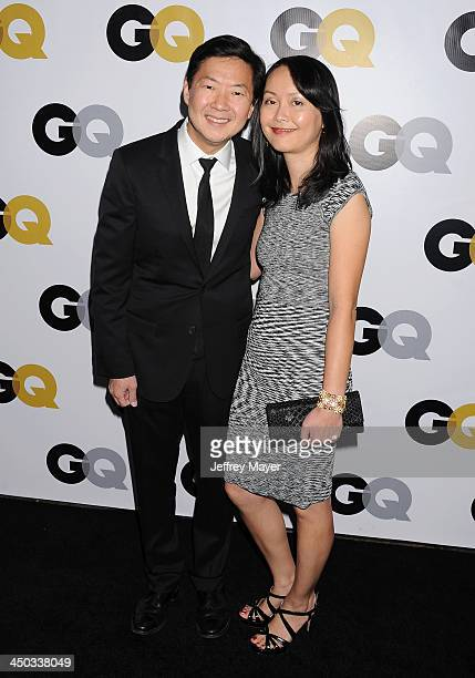 Actor Dr Ken Jeong wife Dr Tran Jeong arrive at the 2013 GQ Men Of The Year Party at The Ebell of Los Angeles on November 12 2013 in Los Angeles...