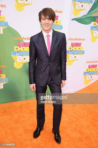Actor Drake Bell arrives at Nickelodeon's 24th Annual Kids' Choice Awards at Galen Center on April 2 2011 in Los Angeles California