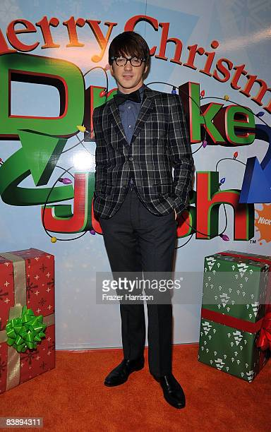 Actor Drake Bell arrives at the premiere Of Nickelodeon's Merry Christmas Drake Josh on December 2 2008 at the Landmark Theatres Westside Pavilion in...