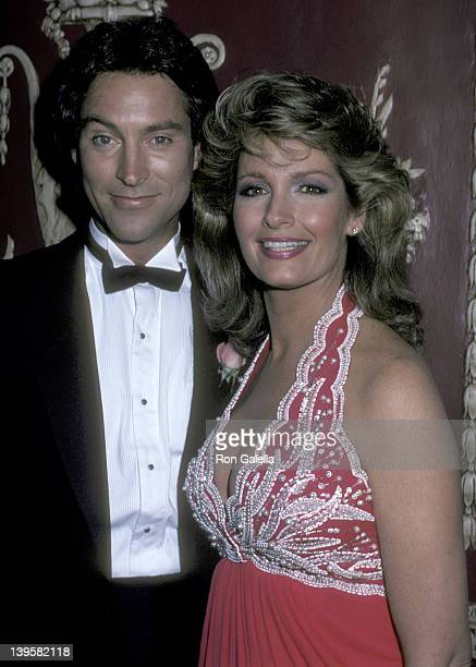 Actor Drake Hogestyn and actress Deidre Hall attend the 13th Annual Daytime Emmy Awards on July 17 1986 at The WaldorfAstoria Hotel in New York City