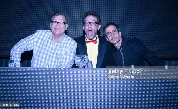 Actor Drew Carey joins comedians Tom Kenny and Blaine Capatch at The Mayan on May 5 2013 in Los Angeles California