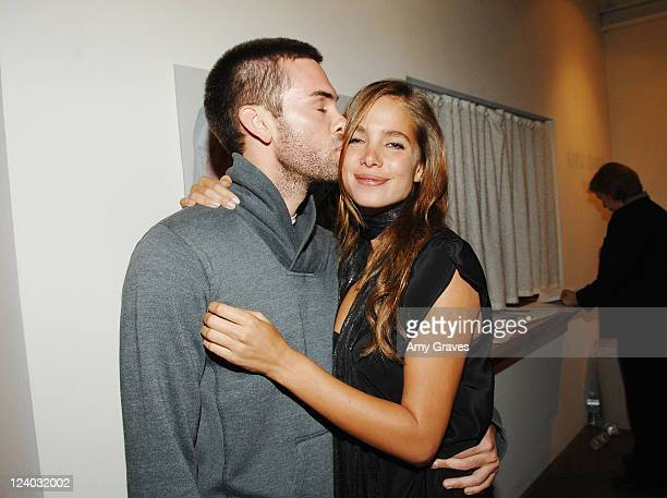 Actor Drew Fuller and Artist/Model Sarai Givaty attend the Privacy Exhibit at The Red House Gallery on October 6 2007 in Venice California