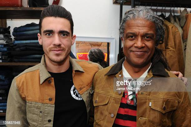 Actor Drew Kuhse and film critic Elvis Mitchell attend Levi's Showroom in Park City on January 22 2011 in Park City Utah