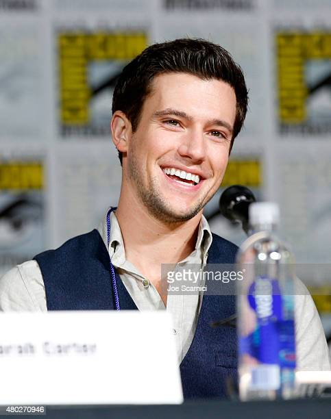 """Actor Drew Roy speaks onstage at the """"Falling Skies"""" panel during TNT at Comic-Con International: San Diego 2015 on July 10, 2015 in San Diego,..."""