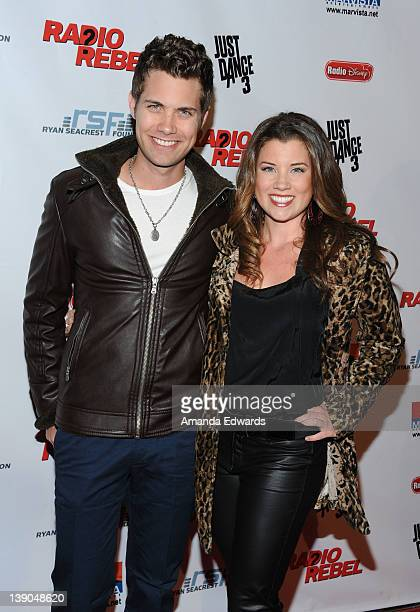 "Actor Drew Seeley and actress Katie Seeley arrive at Disney's ""Radio Rebel"" Los Angeles Premiere at AMC CityWalk Stadium 19 at Universal Studios..."